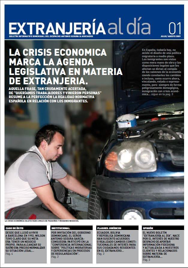Newsletter - Extranjería crisis
